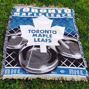 Toronto Maple Leafs Throw Blanket Cotton Knit NHL
